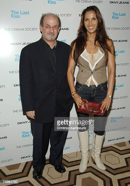 Salman Rushdie and Padma Lakshmi