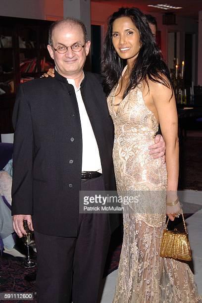 Salman Rushdie and Padma Lakshmi Rushdie attend Carlos Miele Padma Lakshmi host a Secret Afterparty honoring The Tribeca Film Festival the First...
