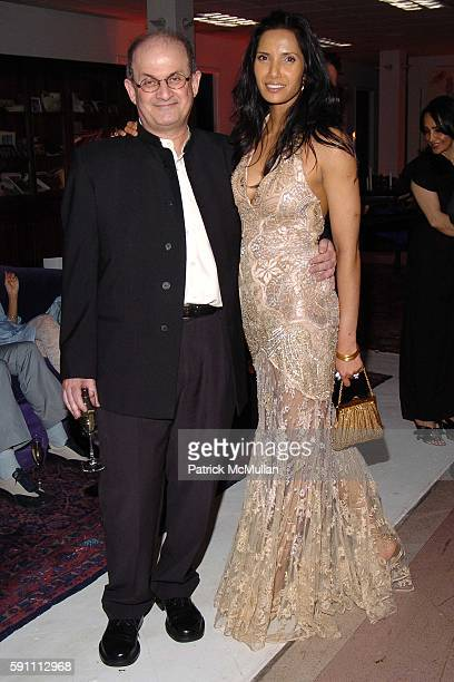 Salman Rushdie and Padma Lakshmi Rushdie attend Carlos Miele Padma Lakshmi host a Secret Afterparty honoring The Tribeca Film Festival the First...