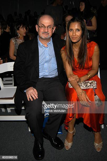 Salman Rushdie and Padma LakshmiRushdie attend Naeem Khan Fall 2006 Fashion Show at The Tent at Bryant Park on February 5 2006 in New York City