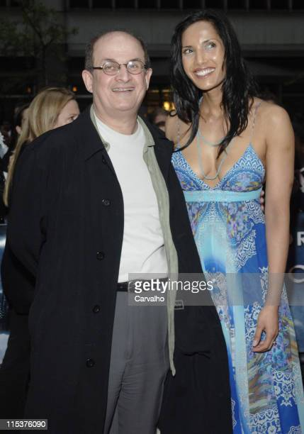 Salman Rushdie and Padma LakshmiRushdie during Kingdom of Heaven New York City Premiere Outside Arrivals at Clearview's Ziegfield Theater in New York...