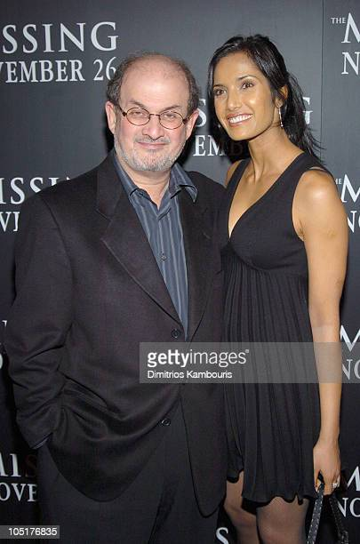 Salman Rushdie and Padma Lashki during The Missing New York Premiere at Loews Lincoln Square Theatre in New York City New York United States