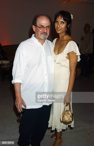 Salman Rushdie and Padma Rushdie attend the launch of Salman Rushdie's latest book Shalimar The Clown at the David Gill Galleries September 7 2005 in...