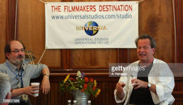 Salman Rushdie and Terry Gilliam during 2002 Telluride Film FestivalTerry Gilliam in Conversation with Salman Rushdie at Telluride Courthouse in...
