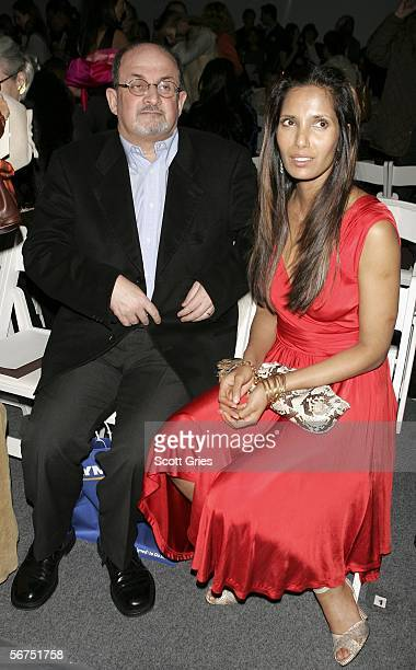 Salman Rushdie and wife Padma Rushdie attend the Naeem Khan Fall 2006 fashion show during Olympus Fashion Week at Bryant Park February 5 2006 in New...