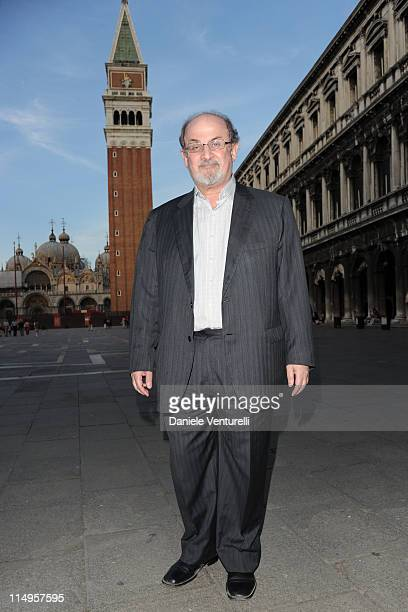 Salman Rushdie arrives at the Julian Schnabel Opening Exhibition during the 54th International Art Biennale on May 31 2011 in Venice Italy