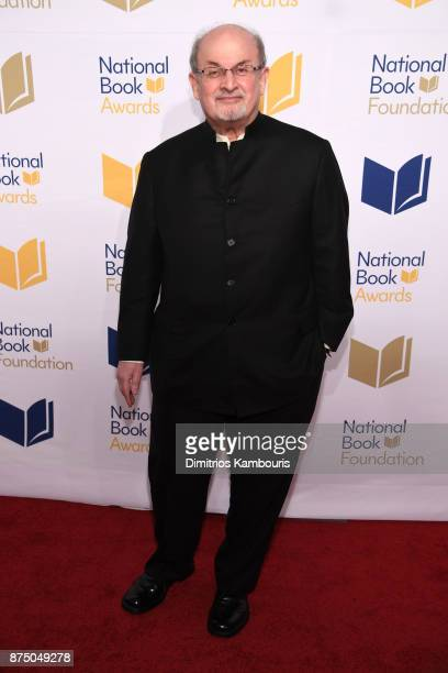 Salman Rushdie attends the 68th National Book Awards at Cipriani Wall Street on November 15 2017 in New York City