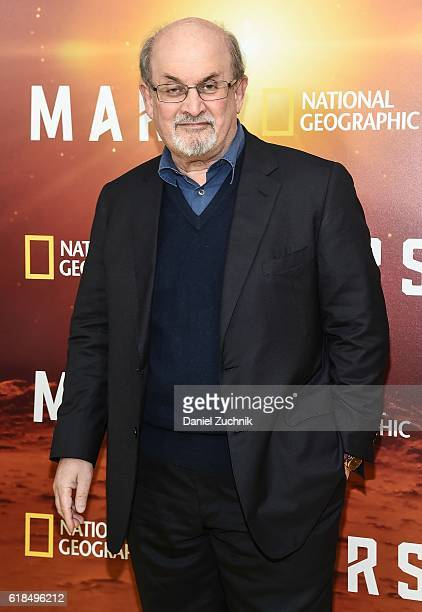 Salman Rushdie attends the National Geographic Channel 'MARS' New York Premiere at the School of Visual Arts on October 26 2016 in New York City