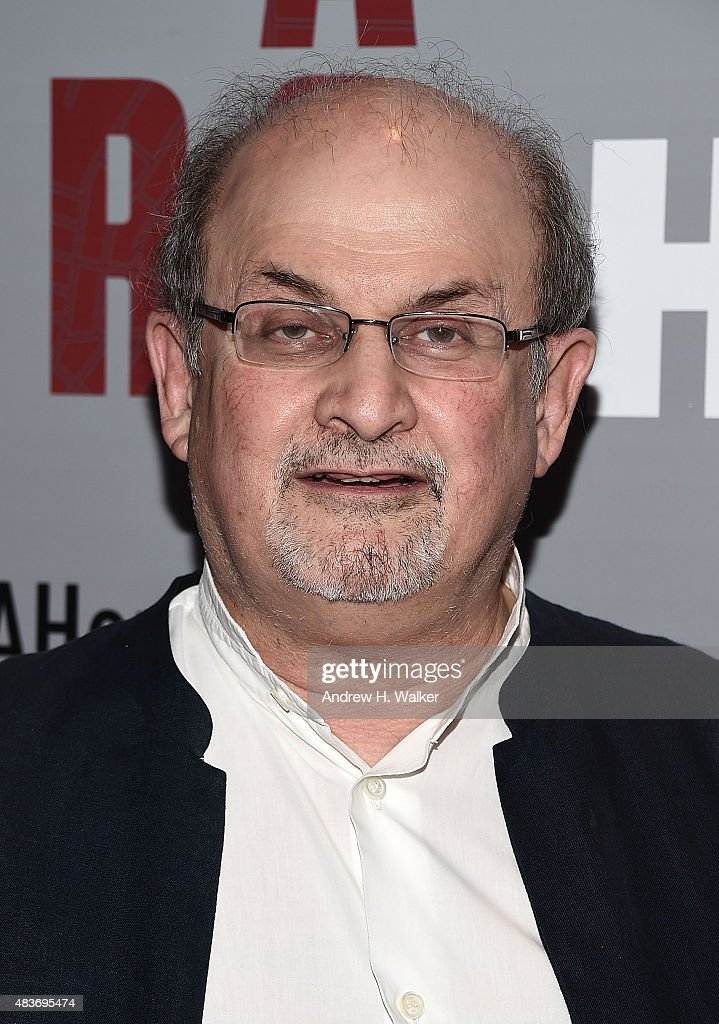 Salman Rushdie attends the 'Show Me A Hero' New York screening at The New York Times Center on August 11, 2015 in New York City.