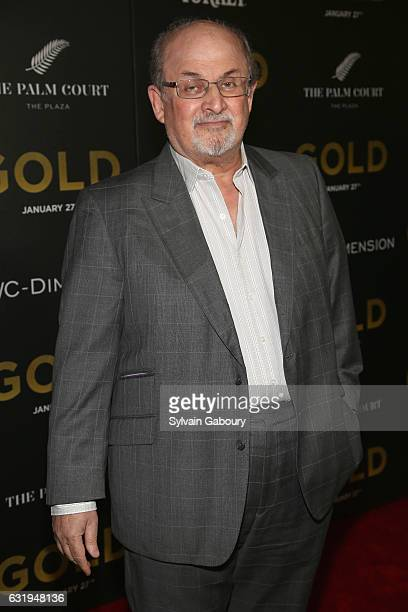 Salman Rushdie attends TWCDimension with Popular Mechanics The Palm Court Wild Turkey Bourbon Host the Premiere of Gold at AMC Loews Lincoln Square...