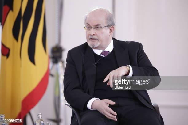 Salman Rushdie Deutschland Berlin Schloss Bellevue Forum Bellevue zur Zukunft der Demokratie Die Freiheit des Denkens in unruhigen Zeiten Ansprache...