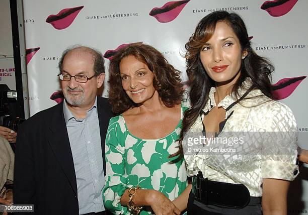 Salman Rushdie Diane von Furstenberg and Padma Lakshmi