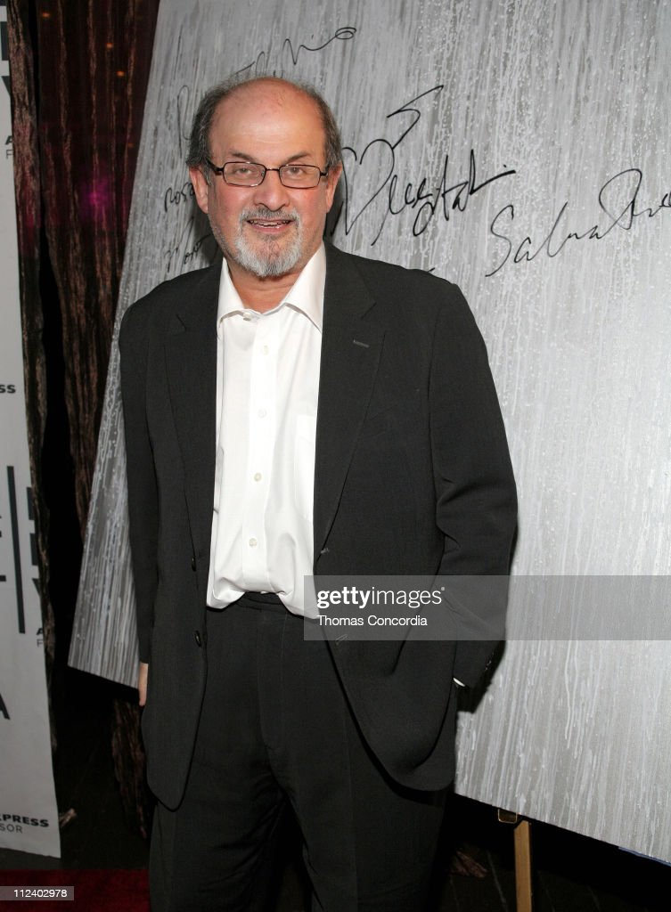 Salman Rushdie during 6th Annual Tribeca Film Festival - Montblanc de la Culture Awards - Arrivals at Angel Orensanz Foundation in New York City, New York, United States.