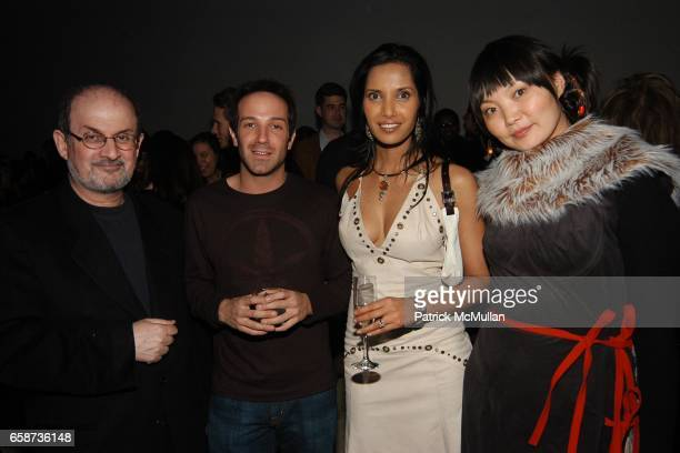 Salman Rushdie Fogel Padma Lakshmi and Irina Pantaeva attend the launch party of the new MAC VIVA GLAM V lipstick and Lipglass in support of MAC AIDS...