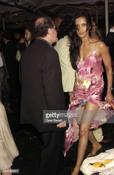 Salman Rushdie Girlfriend Padma Lakshimi Serpentine Gallery Summer Party 2003 Kensington Gardens London