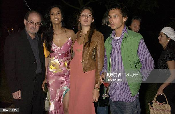 Salman Rushdie Girlfriend Padma Lakshimi With Dan Macmillan Serpentine Gallery Summer Party 2003 Kensington Gardens London