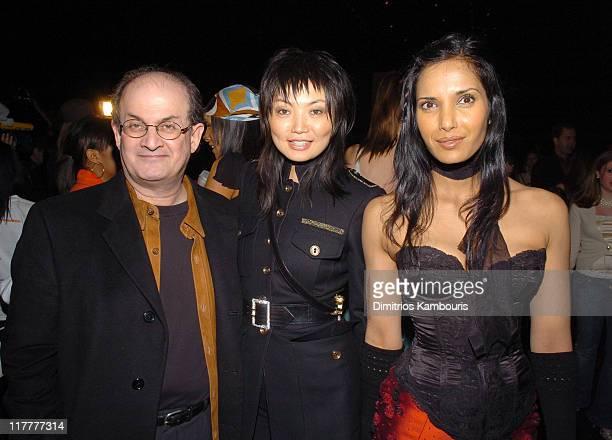 Salman Rushdie Irina Pantaeva and Padma LakshmiRushdie