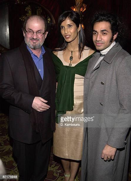 Salman Rushdie Padma Lakshmi and Anand Jon