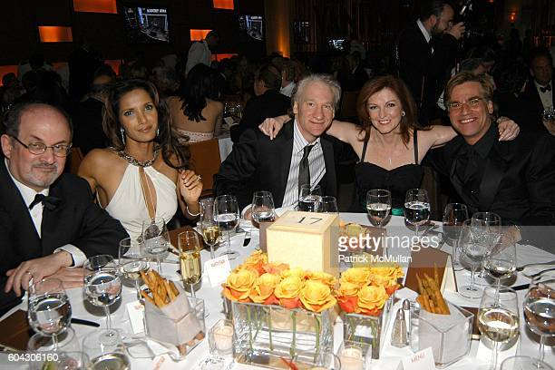 Salman Rushdie Padma Lakshmi Bill Maher Maureen Dowd and attend Vanity Fair Oscar Party at Morton's Restaurant on March 5 2006
