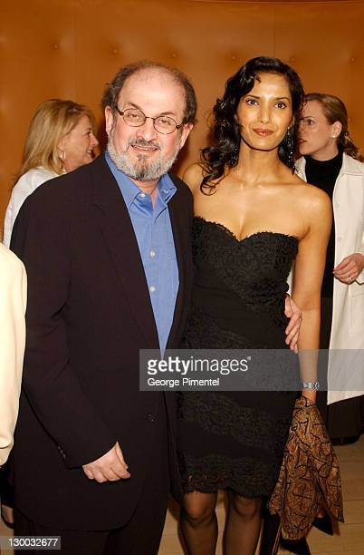 Salman Rushdie Padma Lakshmi during Miramax PreOscar Party Arrivals at Mondrian Hotel in West Hollywood California United States