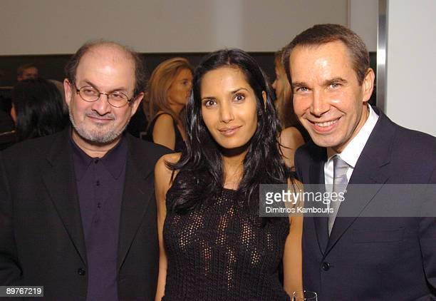 Salman Rushdie Padma Lashki and Jeff Koons