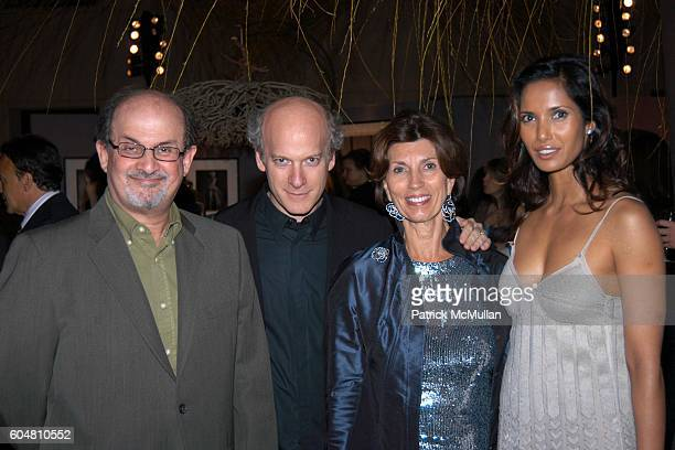 Salman Rushdie Timothy Greenfield Sanders Pamela Fiore and Padma Lakshmi attend Hearst Magazines Hosts 30 Days of Fashion Event and Charity Auction...