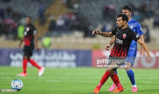 Salmin Khamis of Al Ahli in action during AFC Champions League match between Esteghlal vs Al Ahli FC at Azadi Stadium on April 25 2017 in Tehran Iran