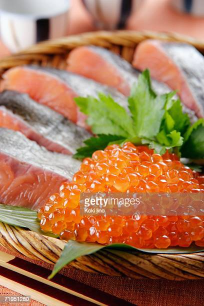 Salmon and salmon roe