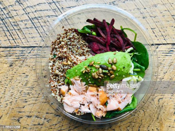 Salmon, avocado and quinoa salad
