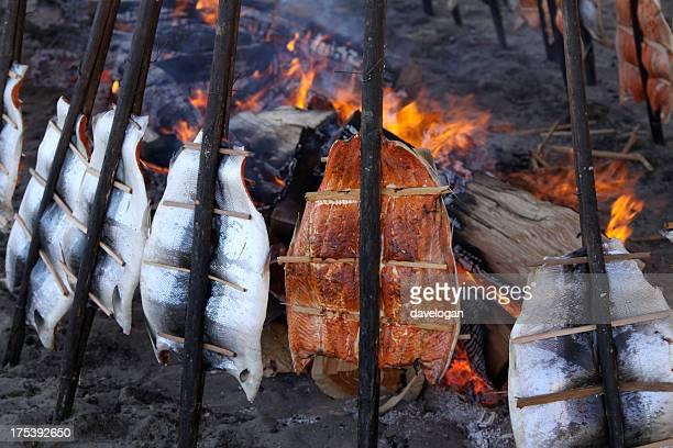 Salmon Backen der Native American Art