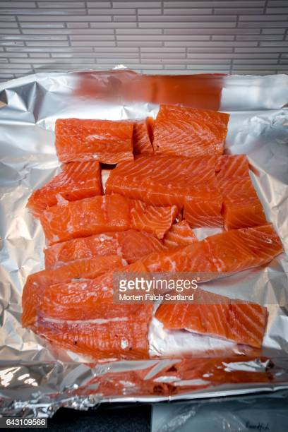 Salmon chunks