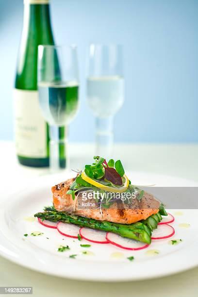 Abendessen mit Lachs
