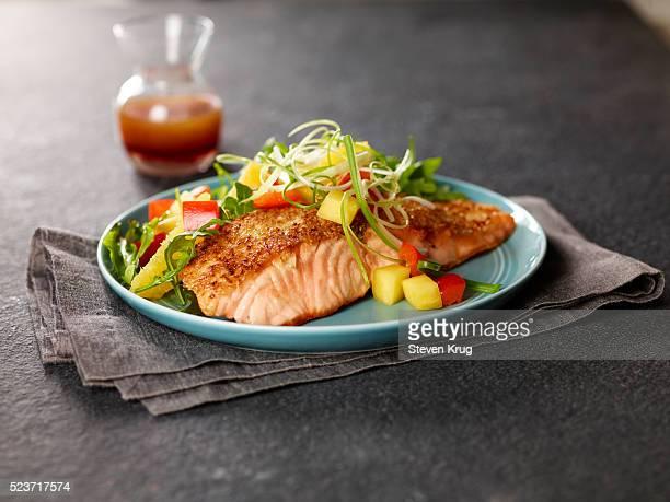 Salmon Filet With Salad