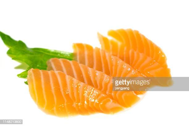 salmon fillet - sashimi stock pictures, royalty-free photos & images