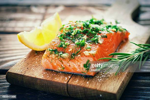 salmon fillet - raw food stock pictures, royalty-free photos & images