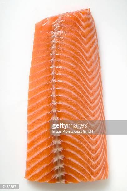 salmon fillet (overhead view) - smoked food fotografías e imágenes de stock