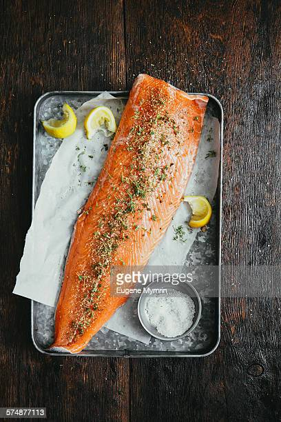 Salmon fillet with herbs