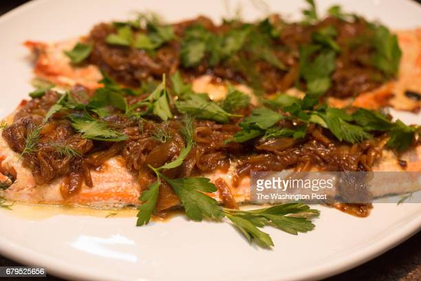 Salmon horseradish with caramelized onion Amanda Saab along with her husband Hussein Saab host a dinner with your Muslim neighbor at the home of...