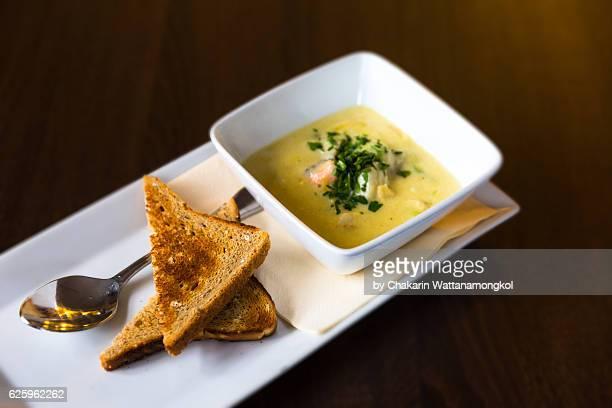 Salmon in Cream Soup