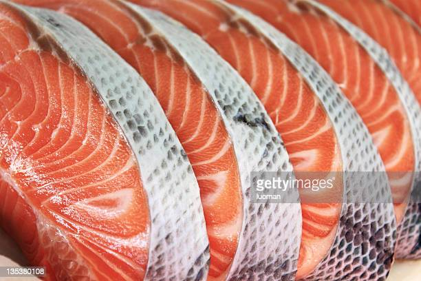 salmon - fresh seafood stock photos and pictures