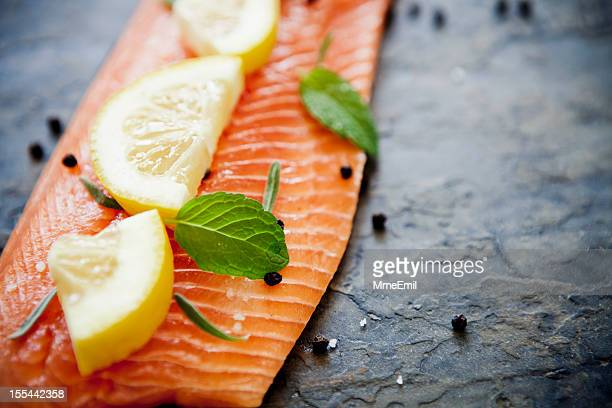 salmon - fillet stock pictures, royalty-free photos & images
