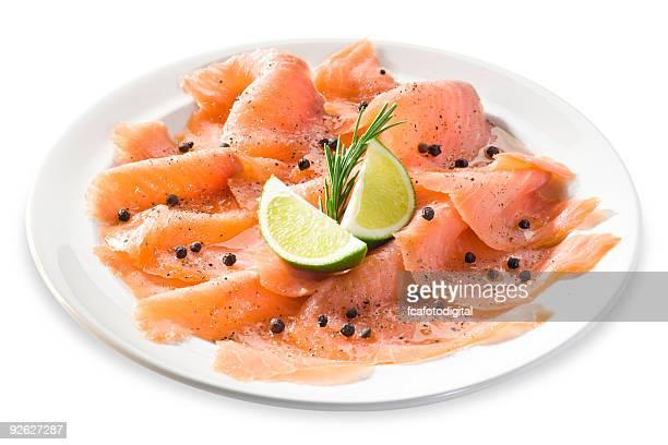 salmone - salmone affumicato foto e immagini stock