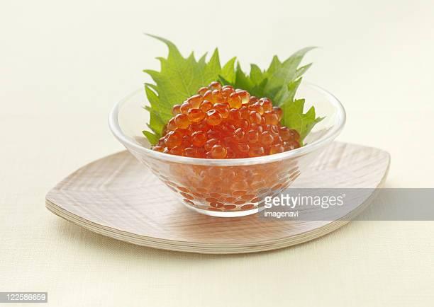 Salmon Roe in soy sauce