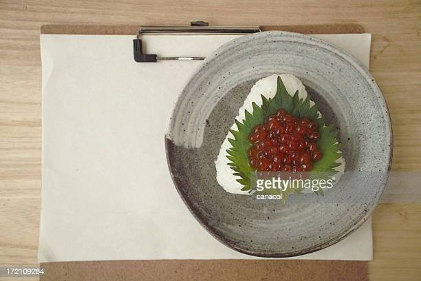 Salmon roe Rice ball