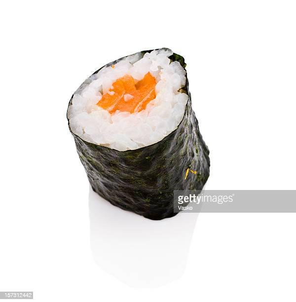 salmon roll - sashimi stock photos and pictures