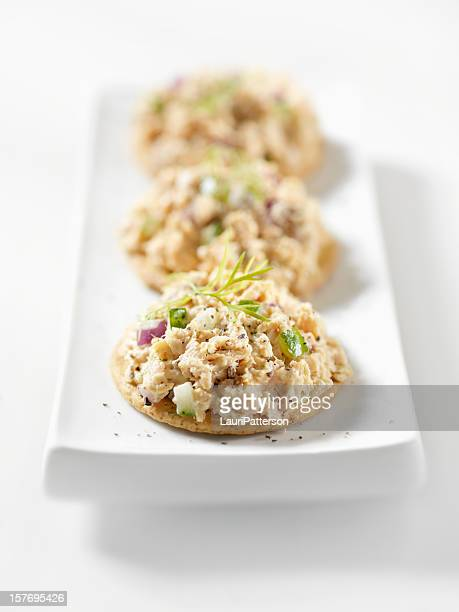 Salmon Salad Canapes