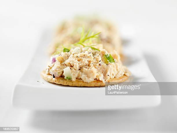 Salmon Salad Canapes