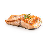 Salmon. Salmon roast steakisolated on white background