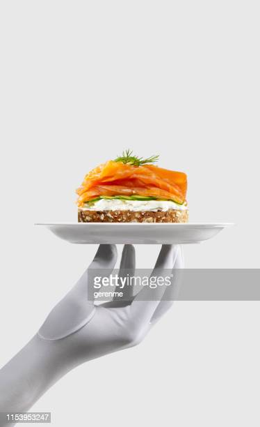 salmon sandwich - part of stock pictures, royalty-free photos & images