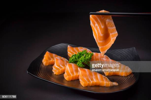 Salmon Sashimi, Japanese food Menu